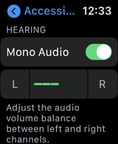 Mono Audio On Apple Watch