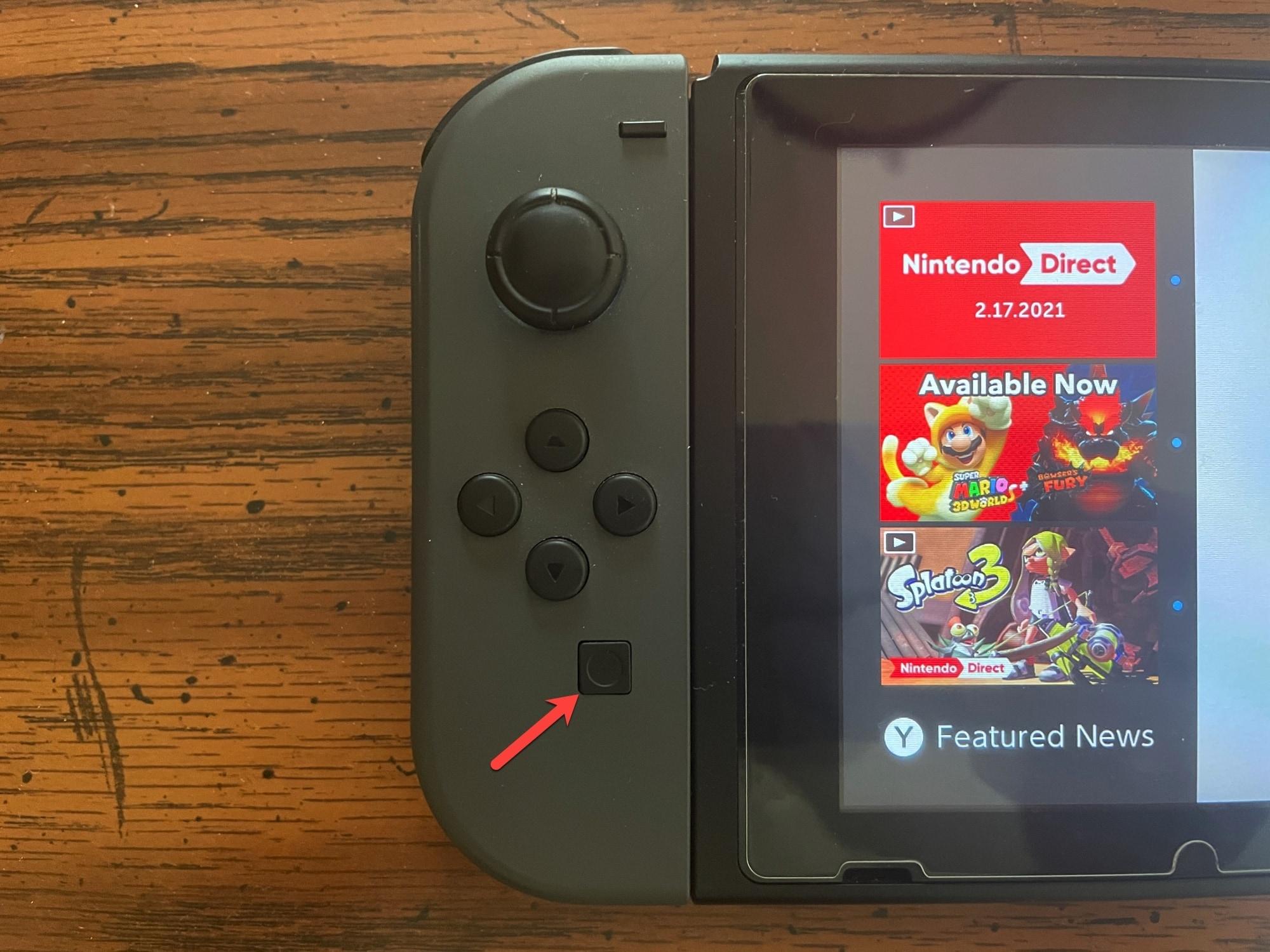 Nintendo Switch Screenshot Button