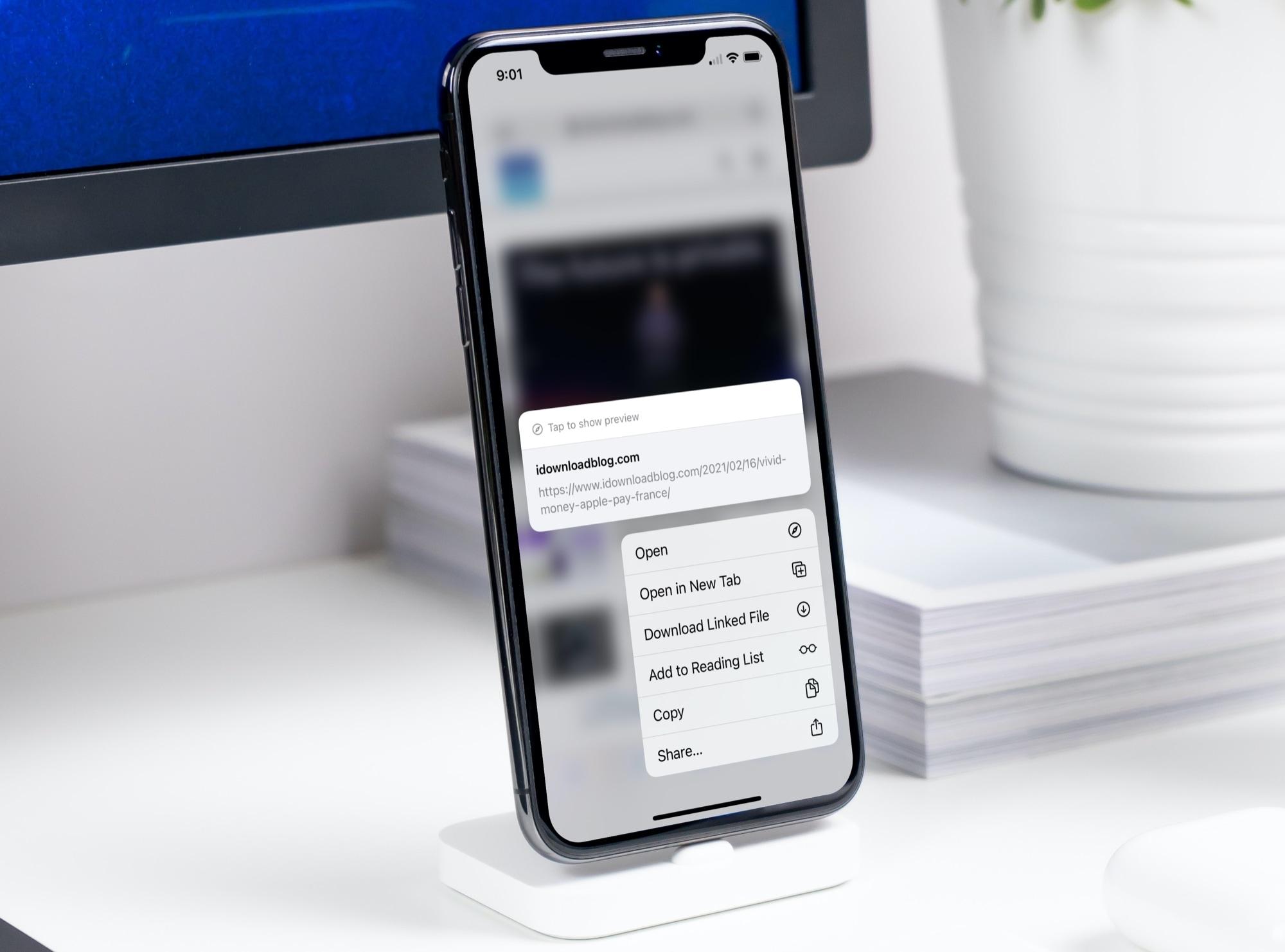 Safari Open Link in New Tab on iPhone
