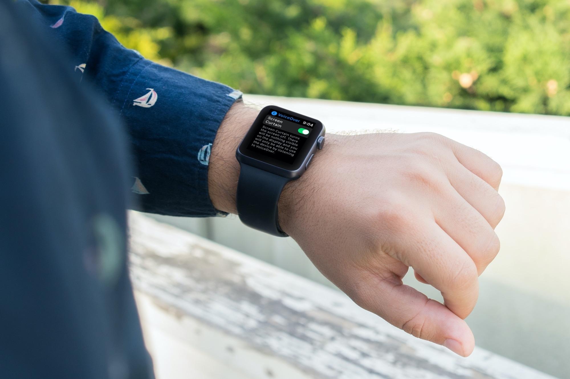 Screen Curtain Setting on Apple Watch