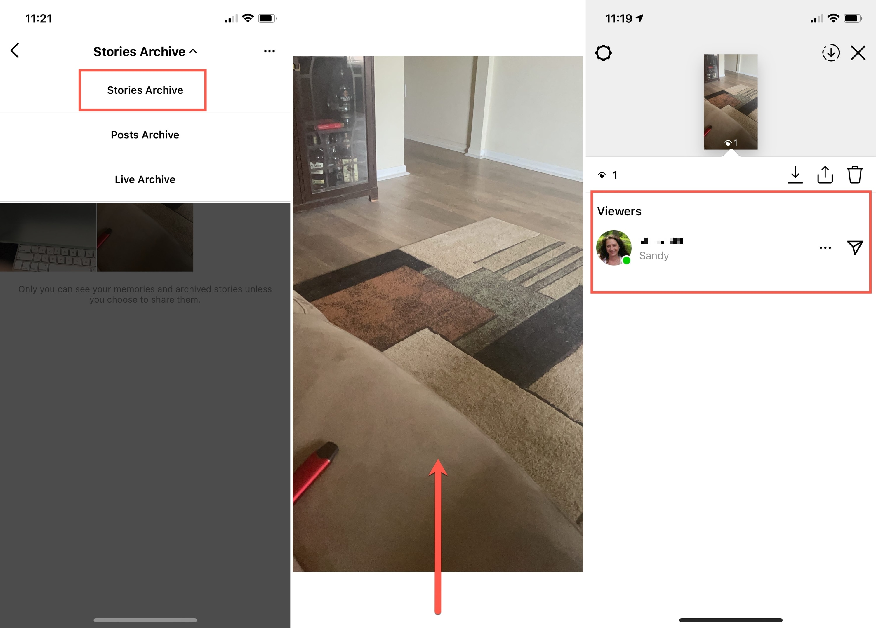 Stories Archive and Viewers on Instagram