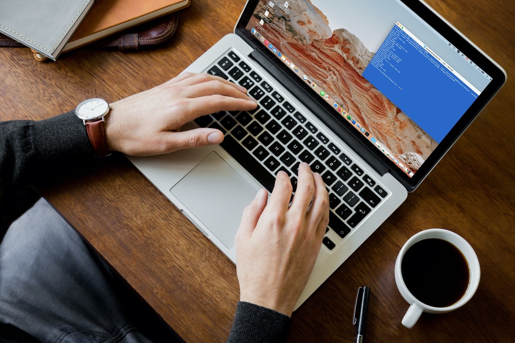 Terminal on MacBook Pro Screen