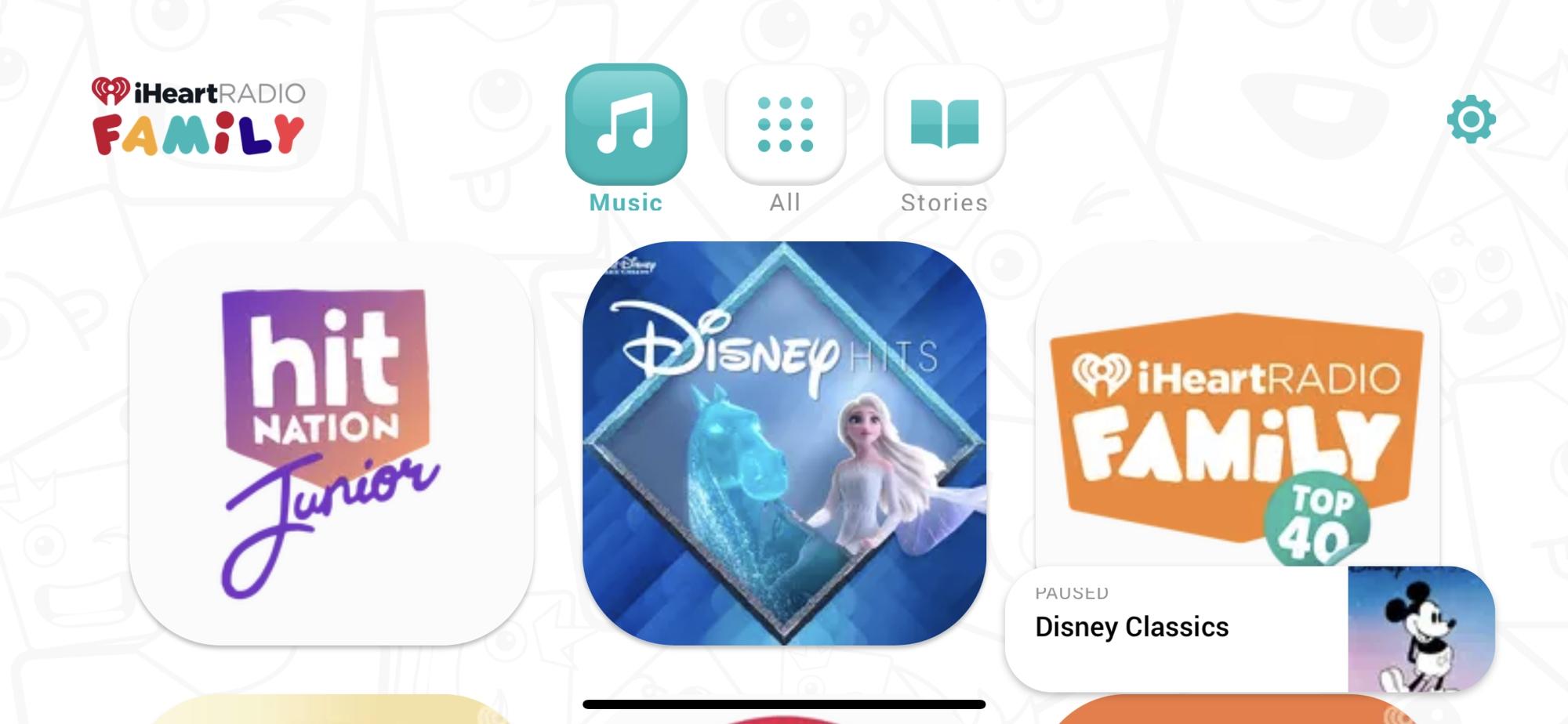 iHeart Radio Family Music on iPhone