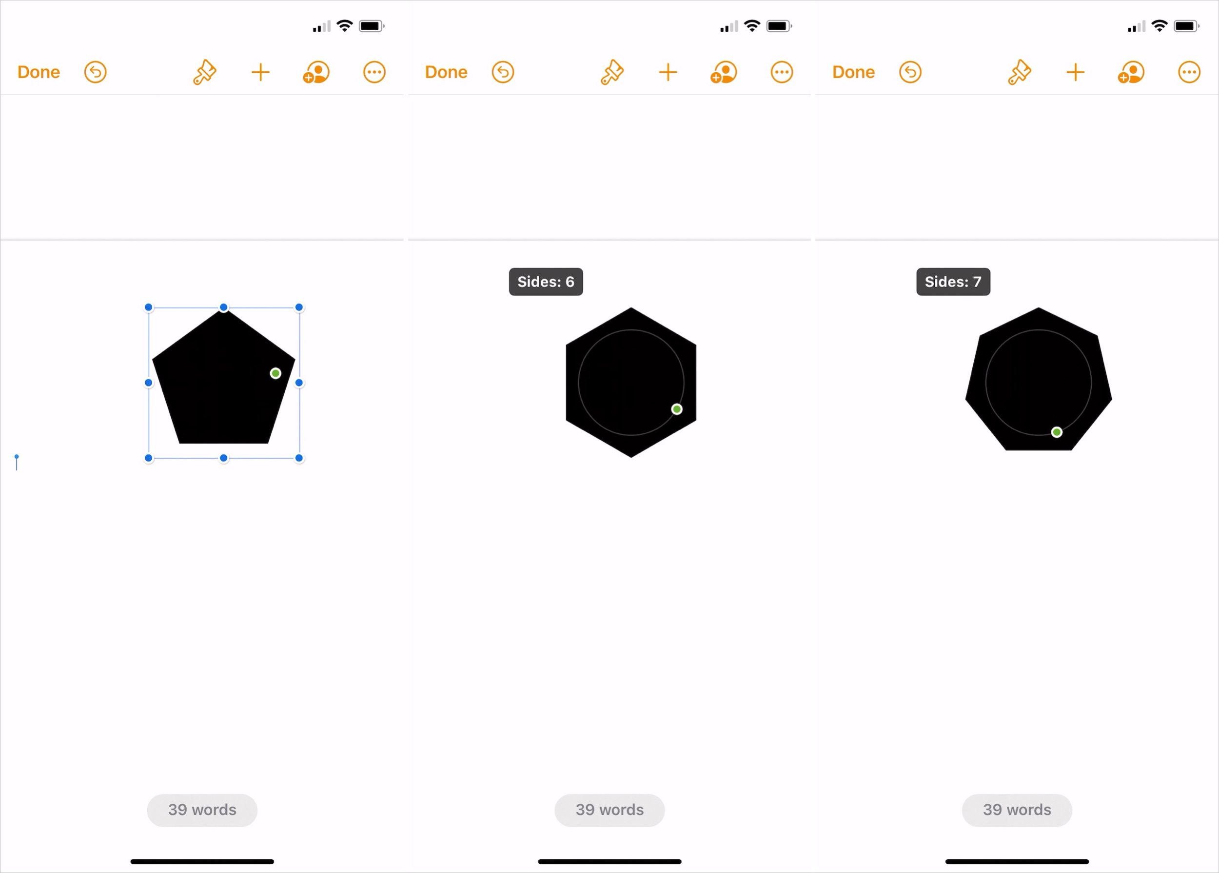 Change a Shape's Features in Pages on iPhone