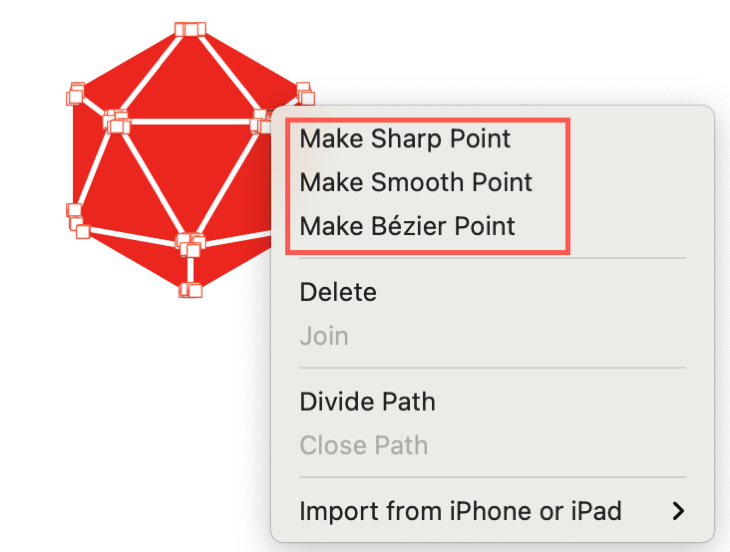 Change a Shape's Points in Pages on Mac