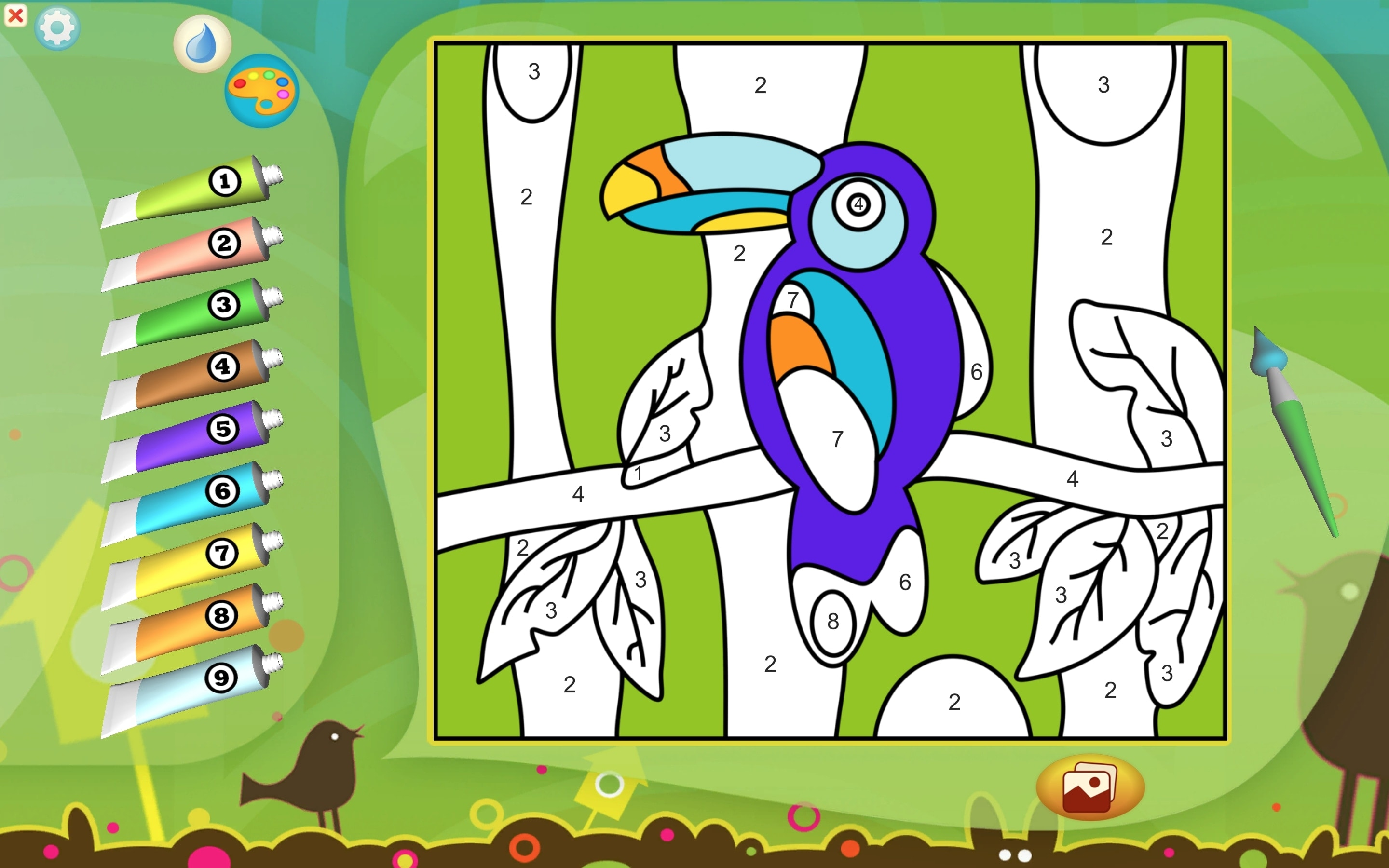Color by Numbers - Animals for Kids on Mac