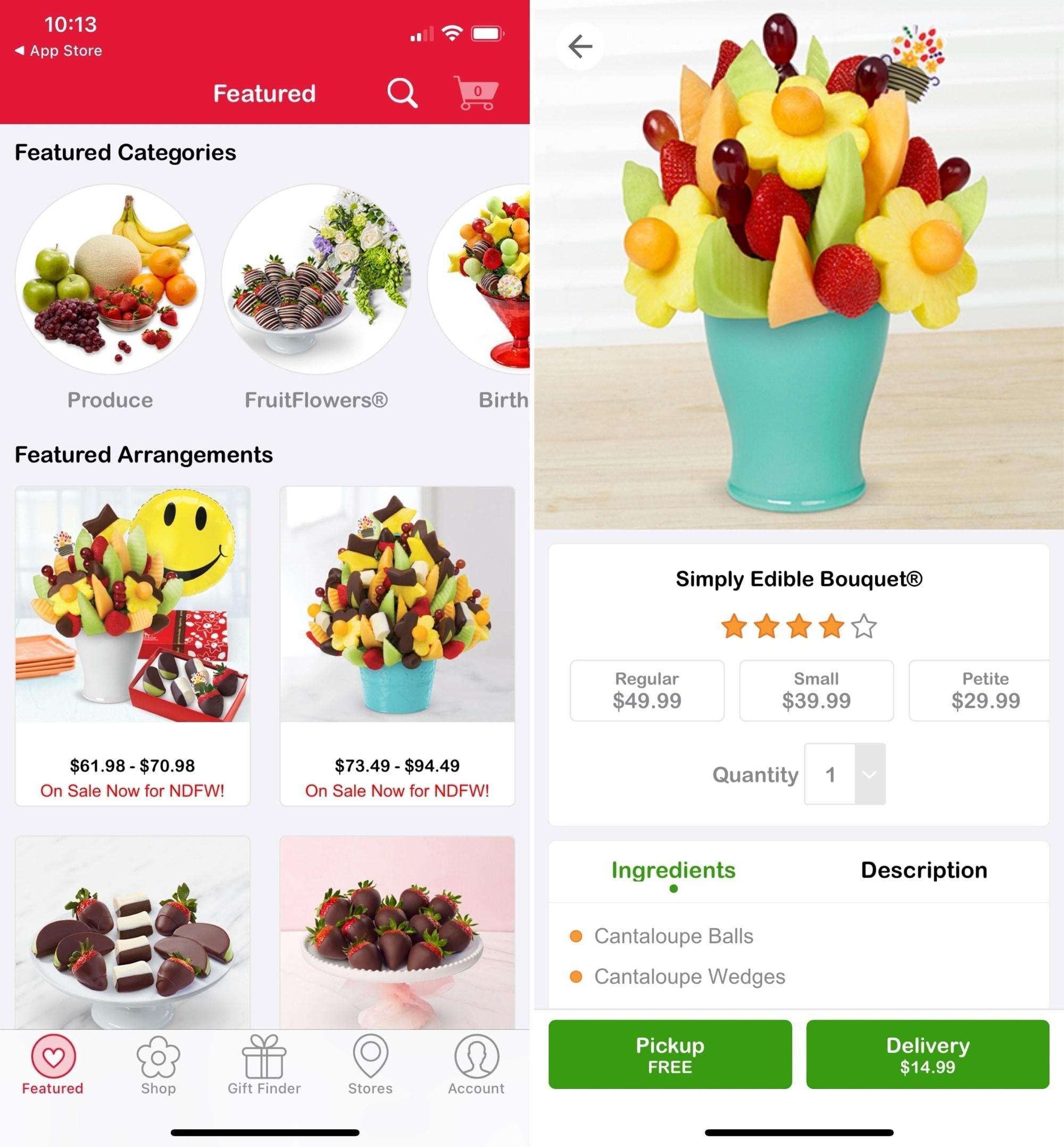 Edible Arrangements on iPhone
