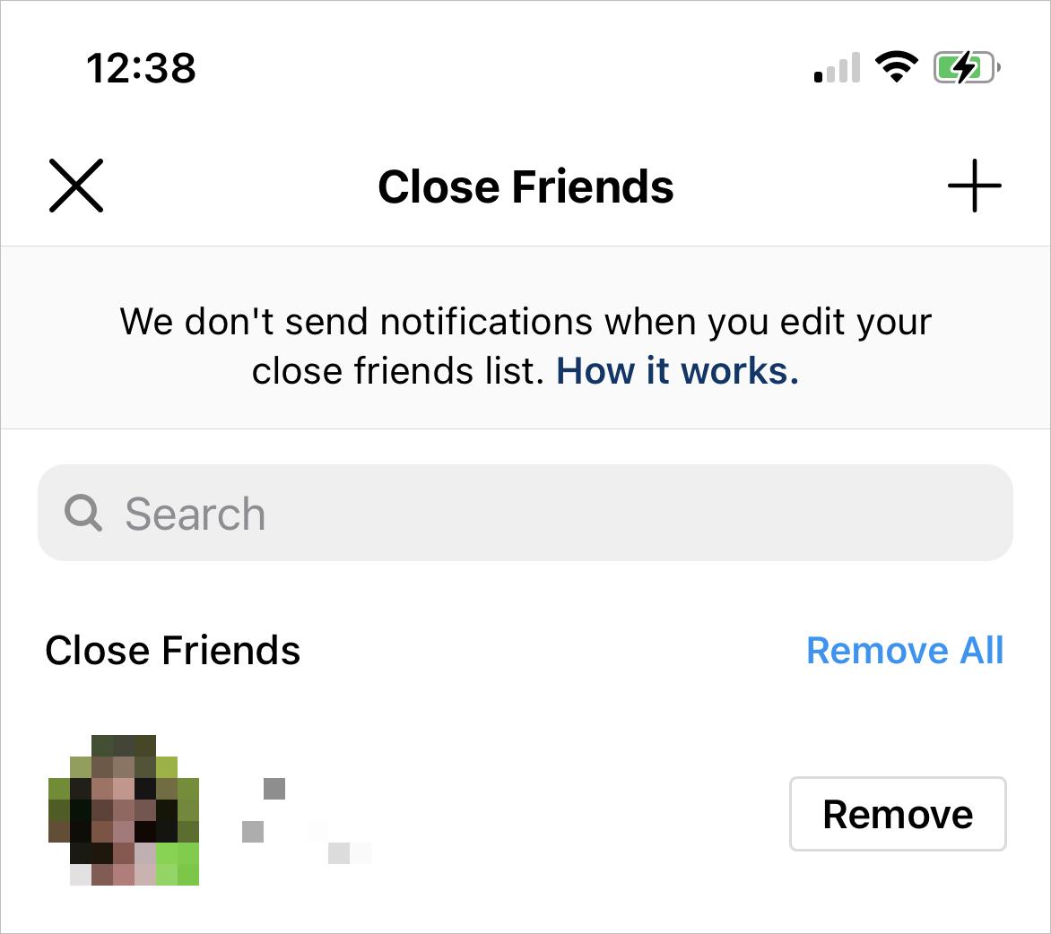 Edit a Close Friends List on Instagram