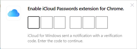 Enable iCloud Passwords for Chrome on Windows