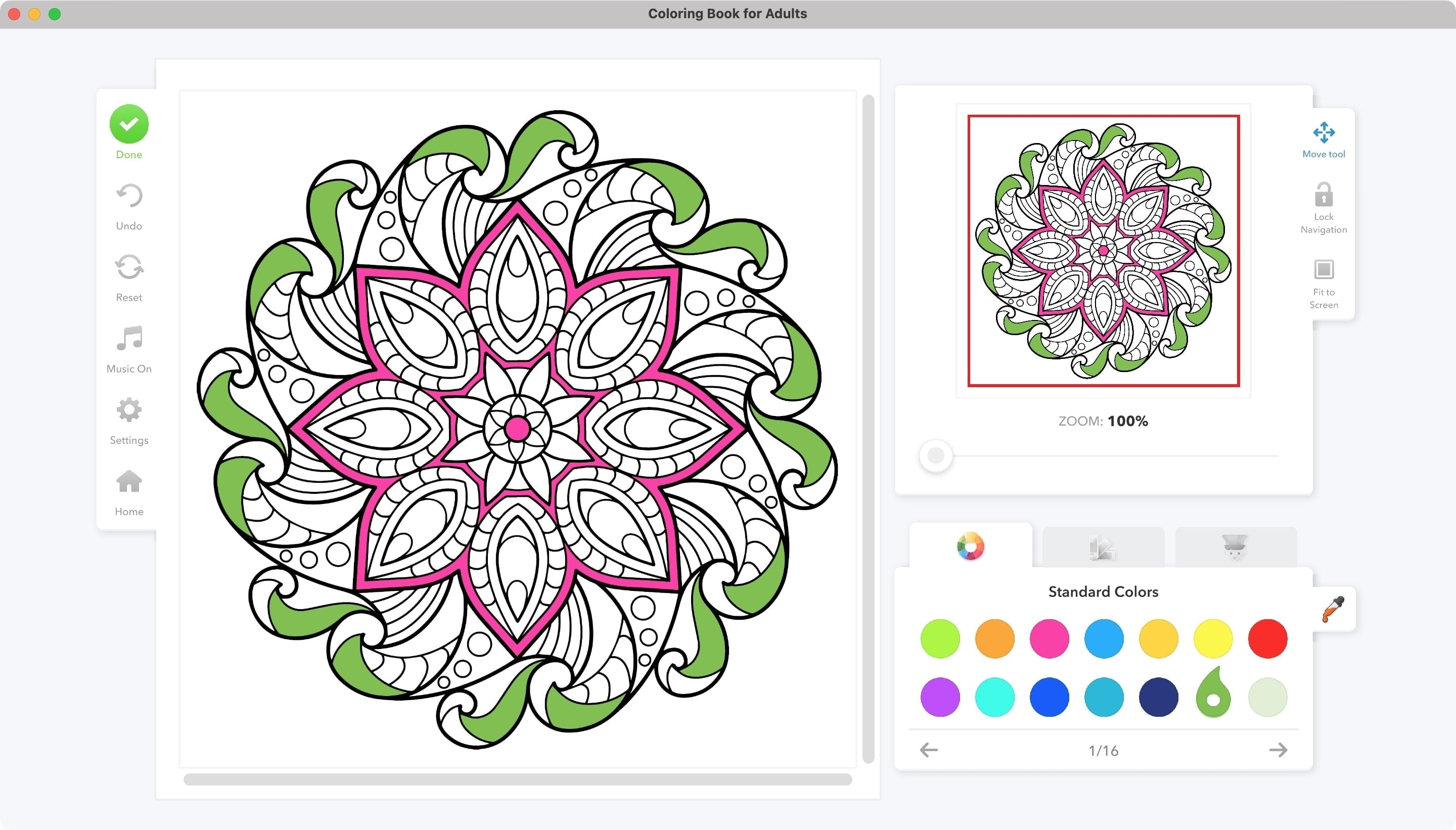 Epic Coloring Book for Adults on Mac