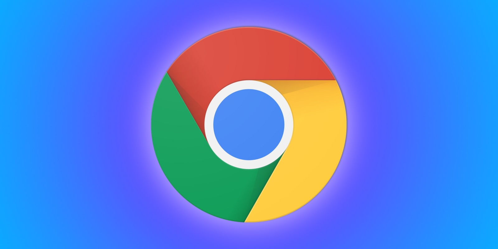 An illustration showing the Google Chrome browser logo set against a colorful background