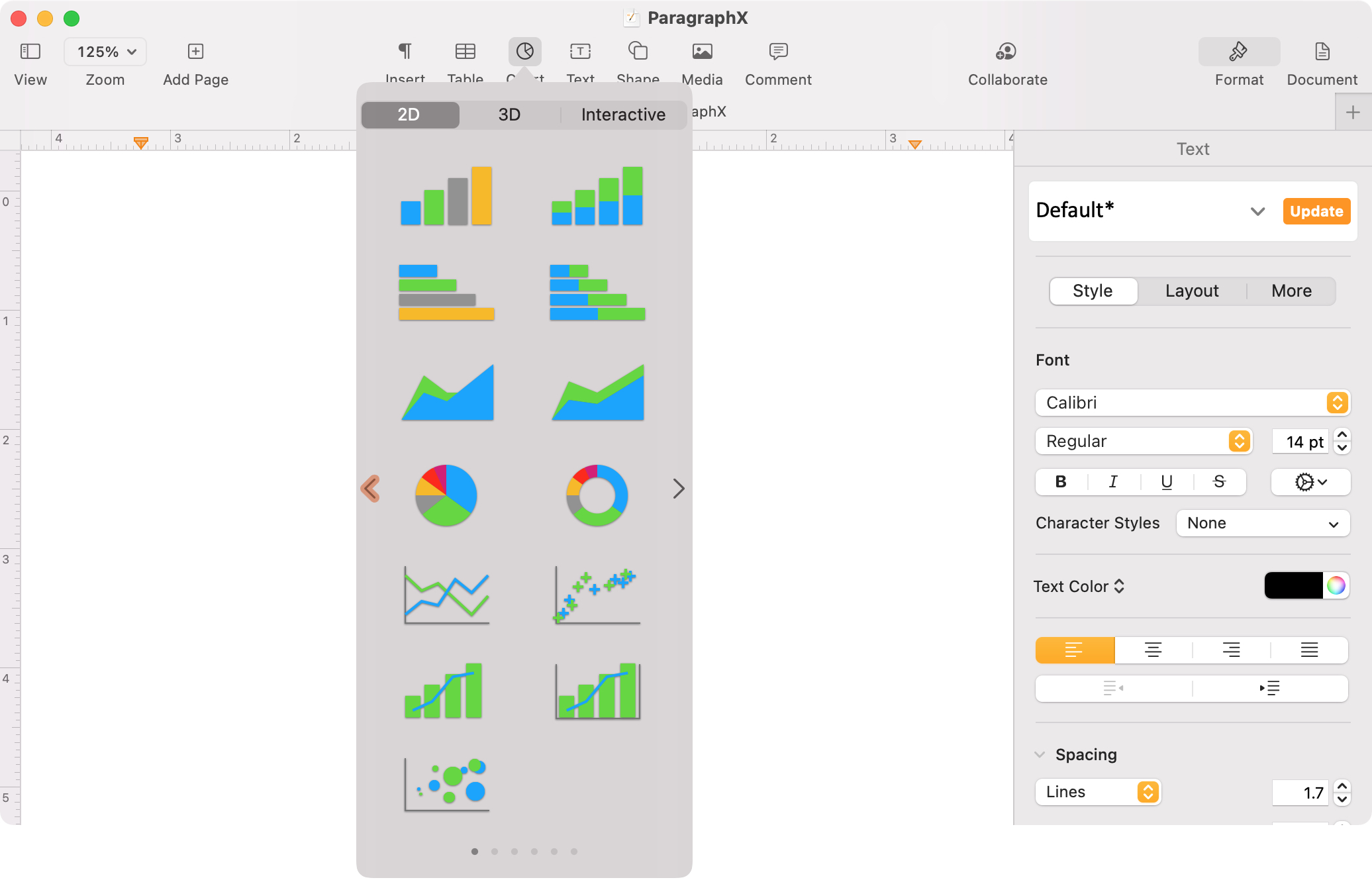 Insert a Chart in Pages on Mac