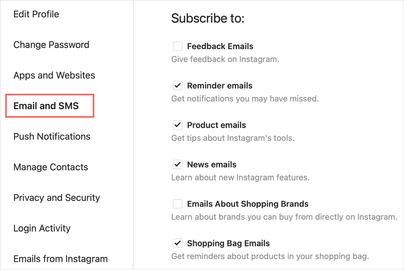 Instagram Email and SMS Alerts Online