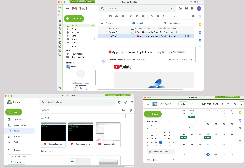 Kiwi for Gmail Lite App on Mac