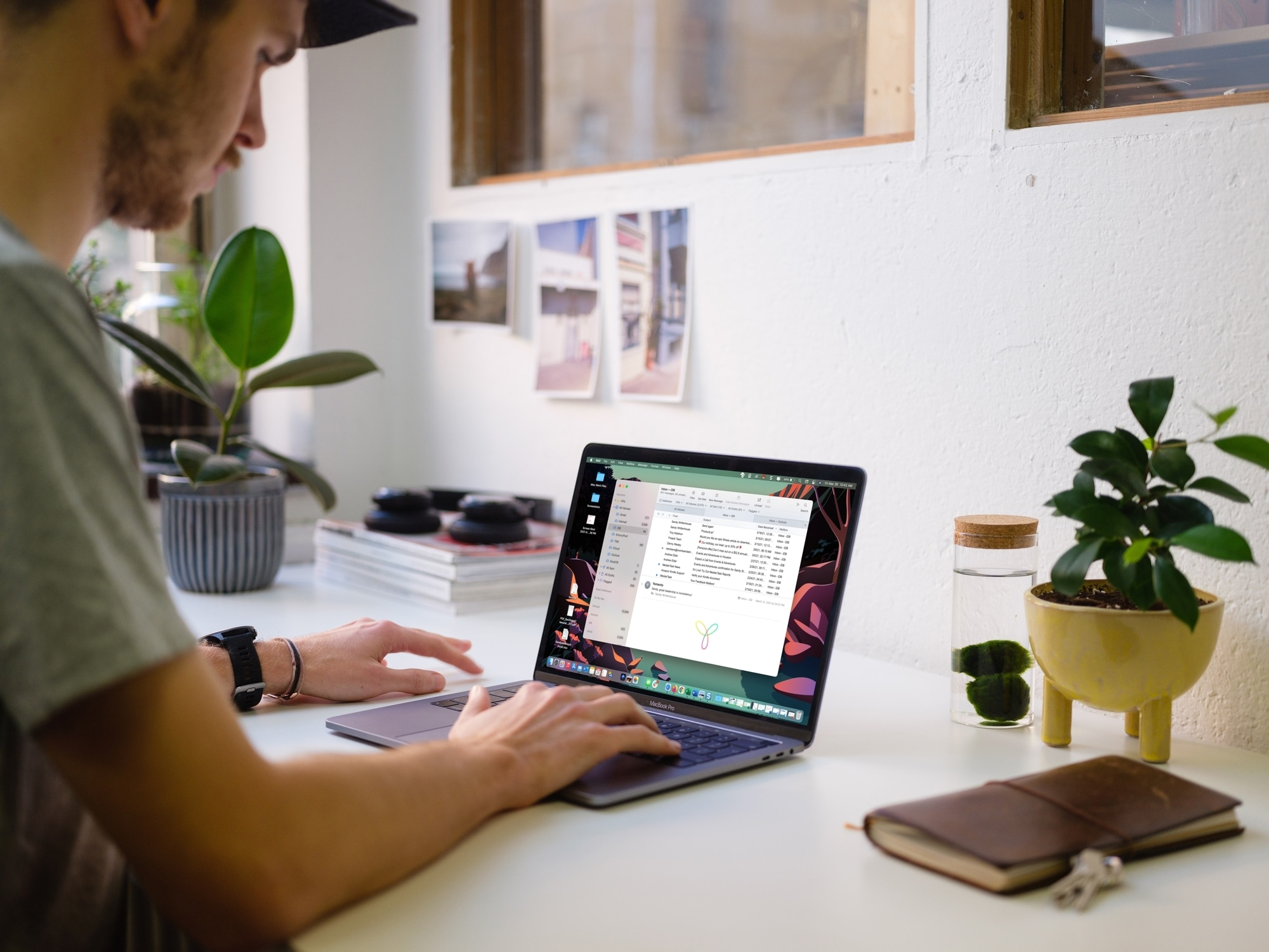 Mail App on MacBook Screen
