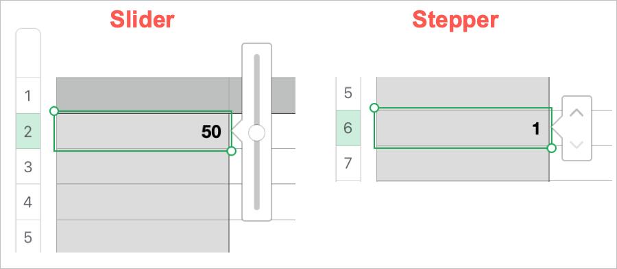 Numbers Slider vs Stepper
