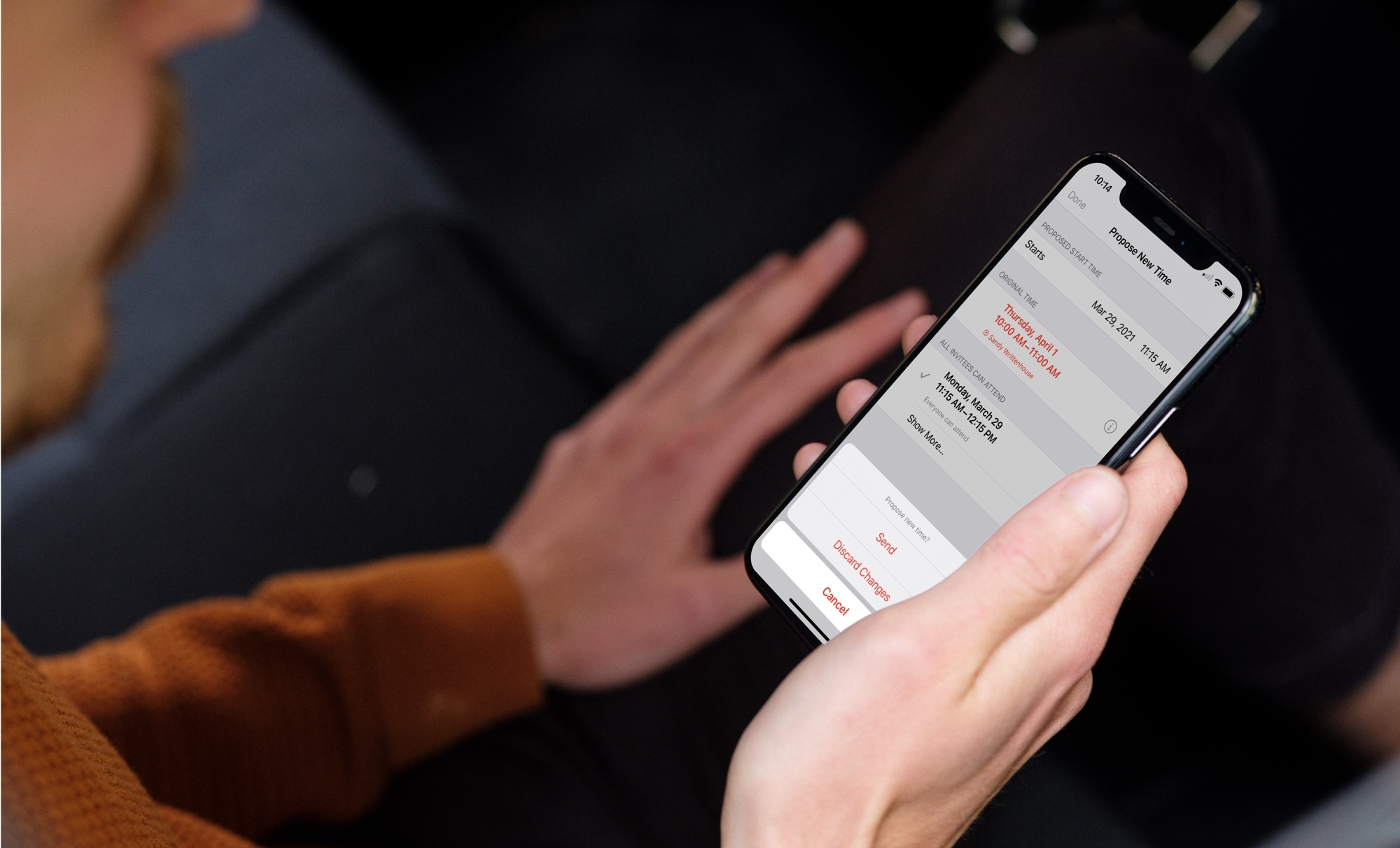 Propose New Time for Calendar Event on iPhone