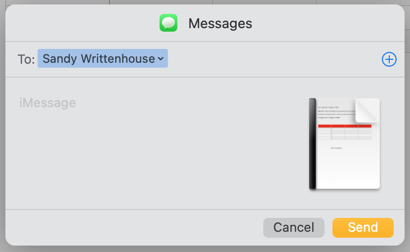 Share a Pages Document with Messages on Mac