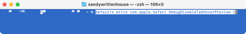 Terminal Command to Remove Safari Tab Previews on Mac