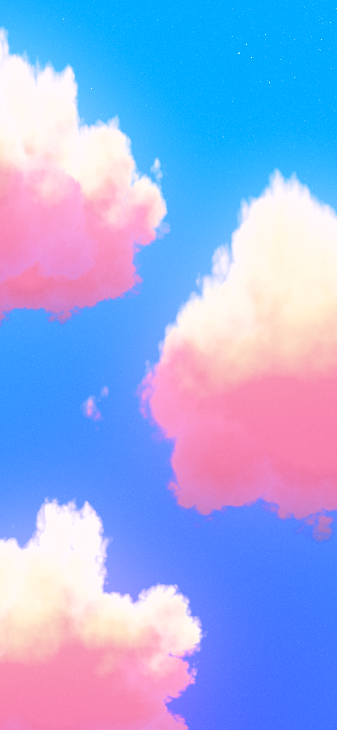 Fantasy cloud iPhone wallpapers from sunset to moonrise