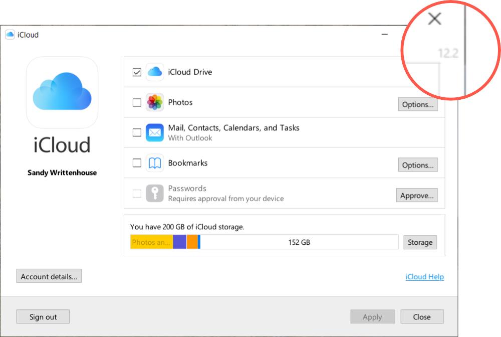 iCloud Windows Version