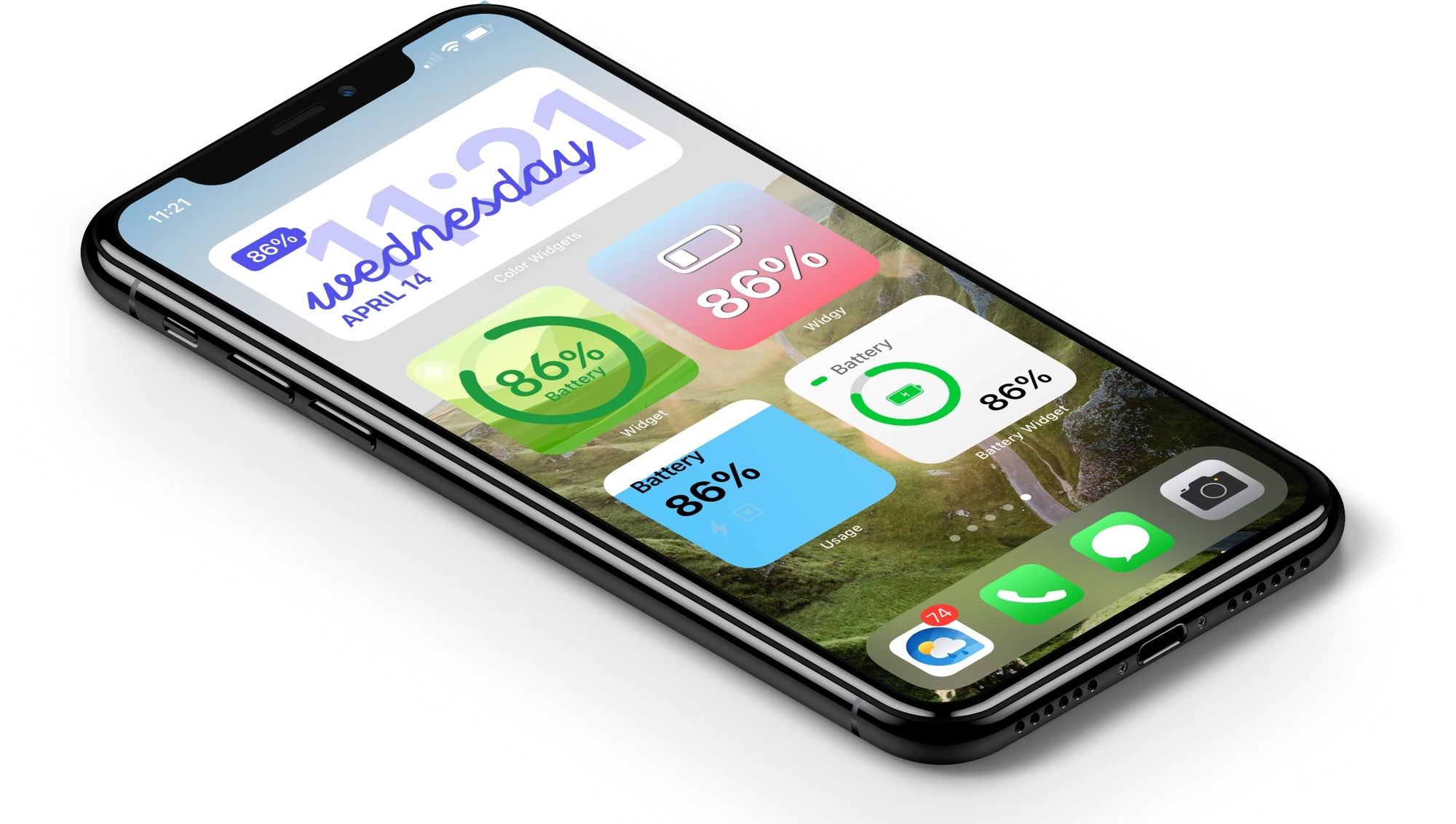 Battery Level Widgets on the iPhone Home Screen