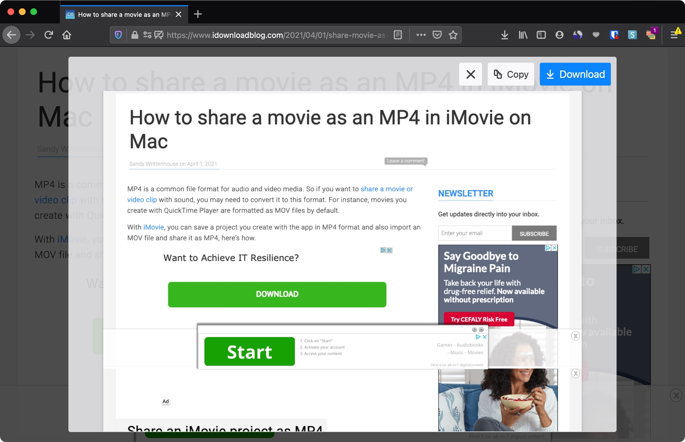Capture a Full Page Screenshot in Firefox on Mac