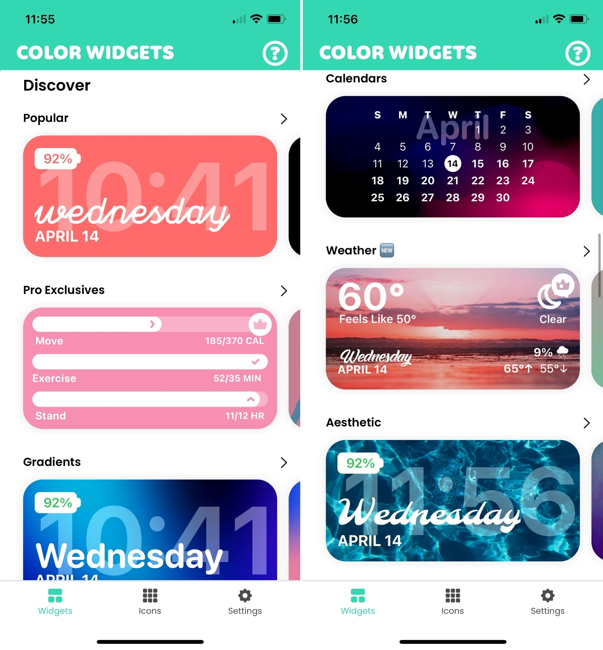 Color Widgets For iPhone
