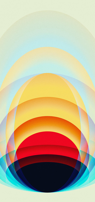 Concentric circle iPhone wallpaper iEDITWALLS retoka idownloadblog light