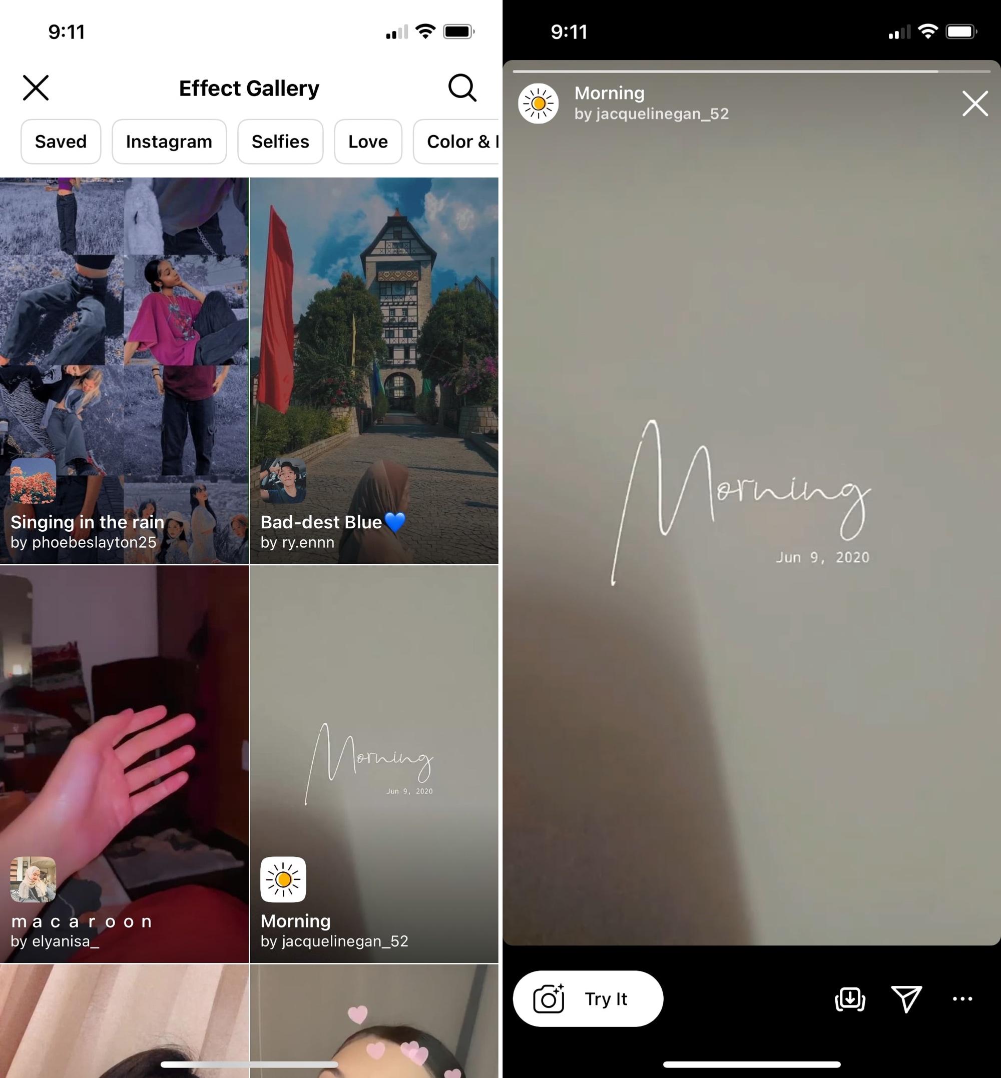 Instagram Effect Gallery