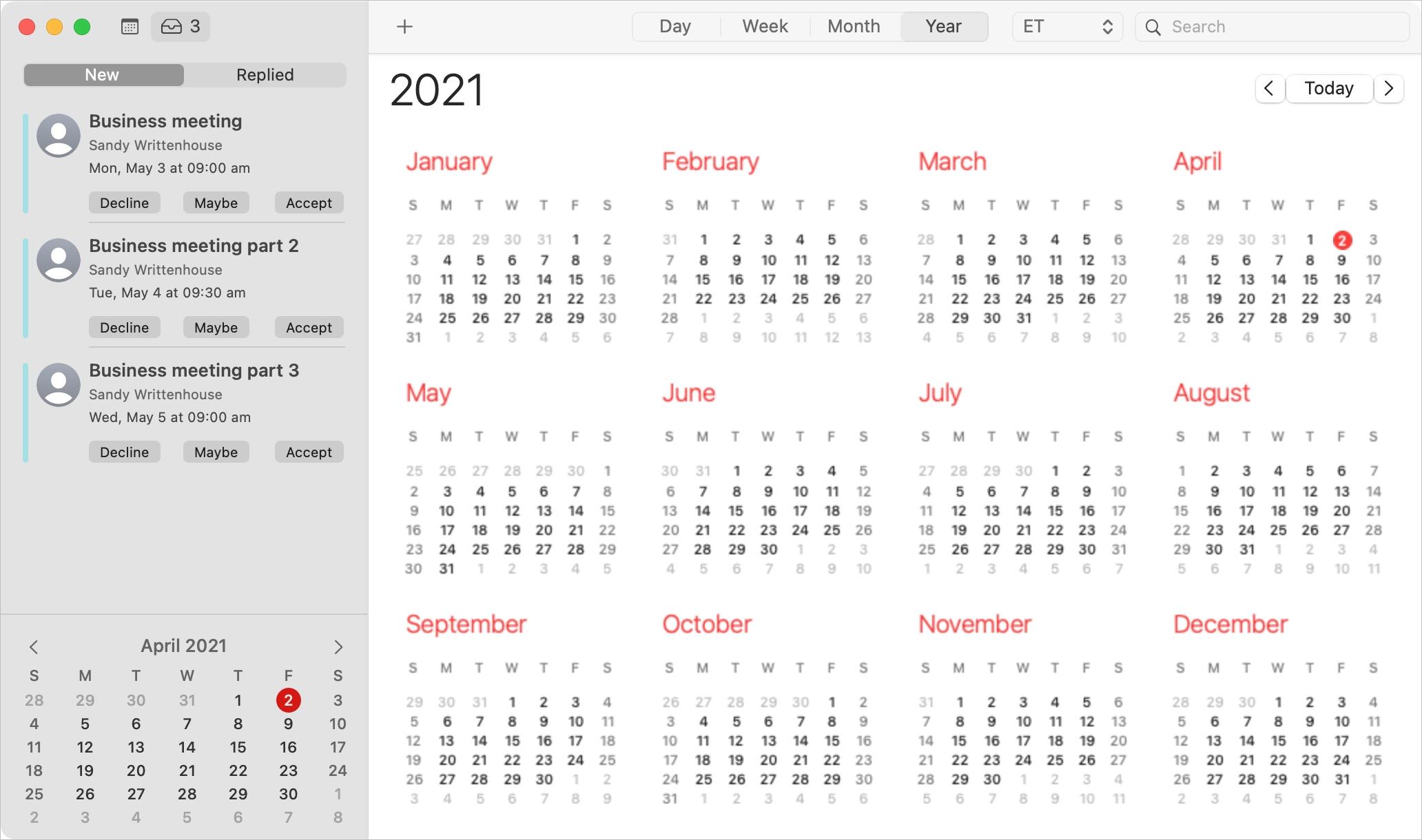 Mac Calendar Event Invitations