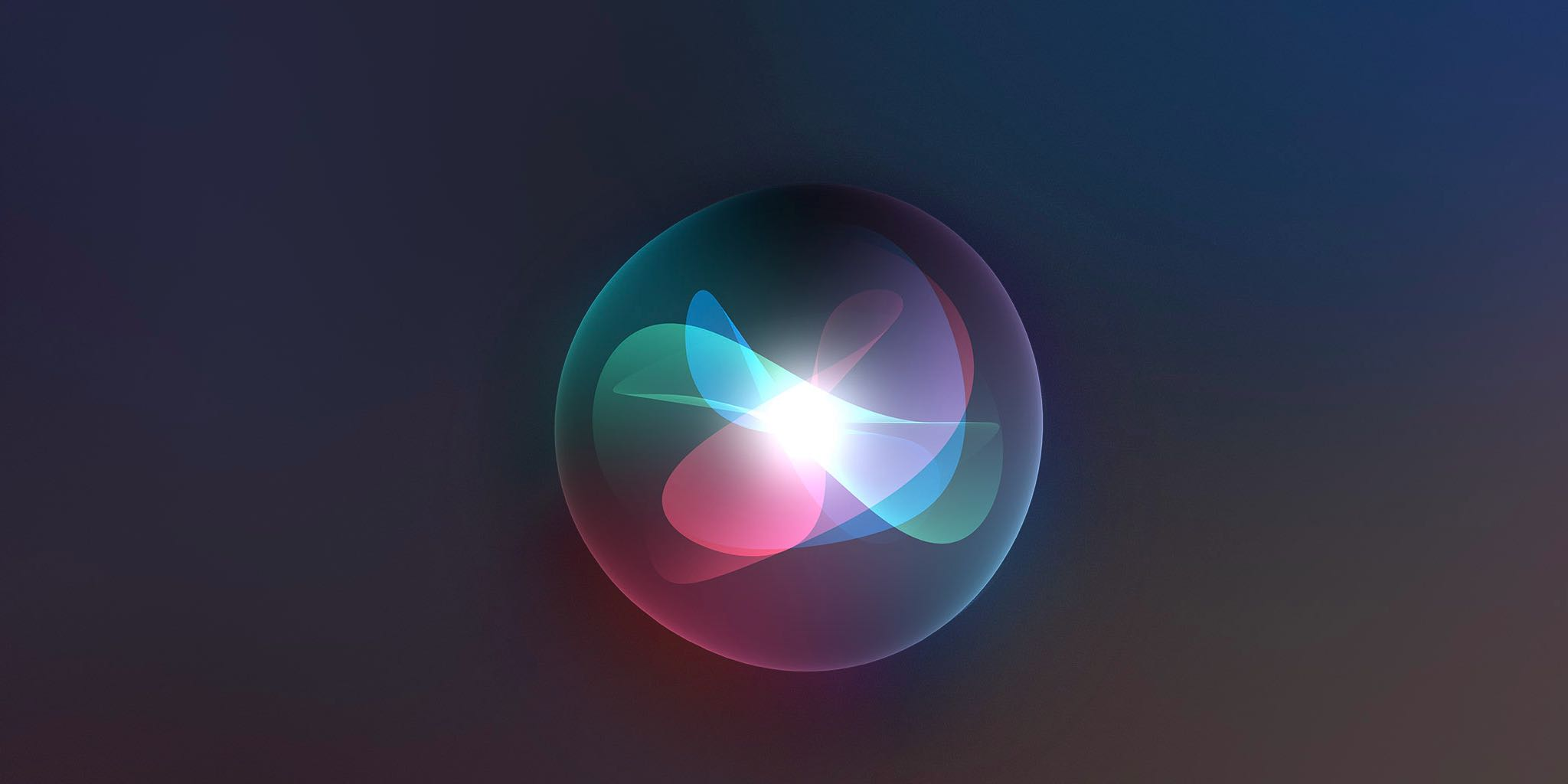 A featured image showing a Siri orb set against a dark background