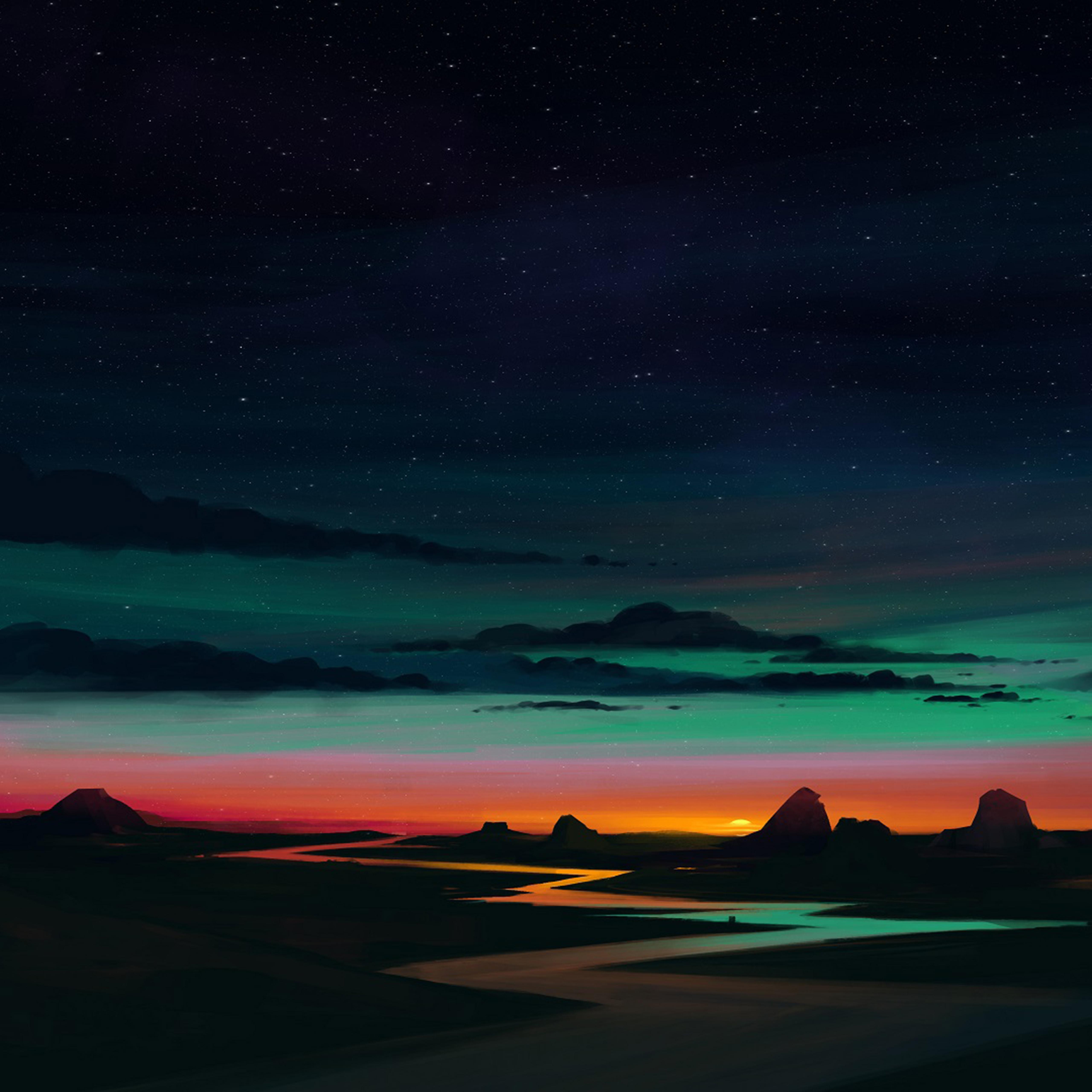 Sunrise wallpaper for iPhone idownloadblog river