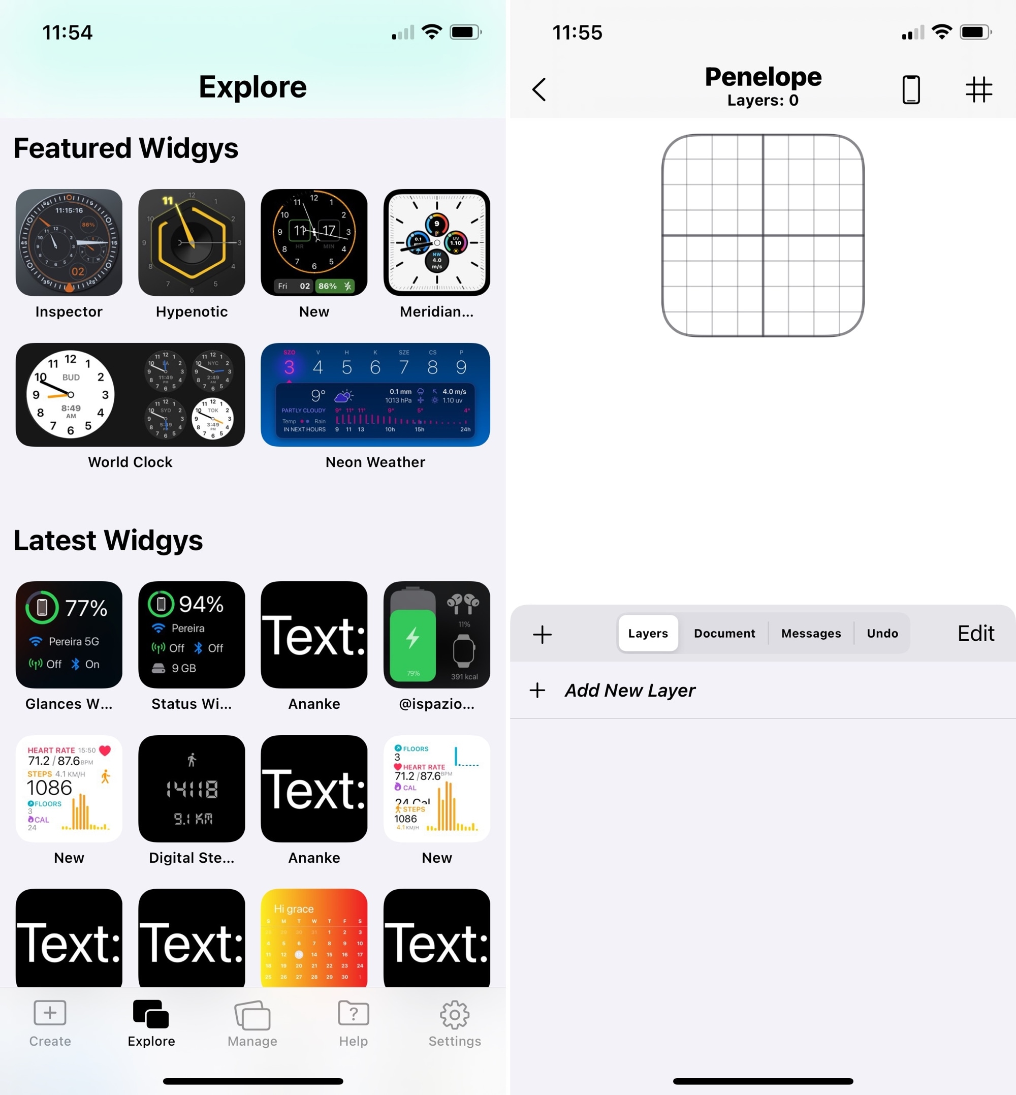 Widgy Create a Widget for iPhone