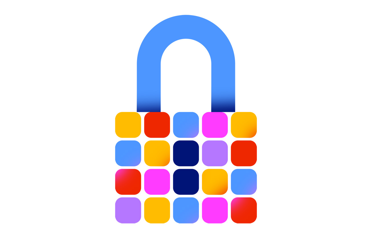Apple's promotional image showing the App Store secure lock icon