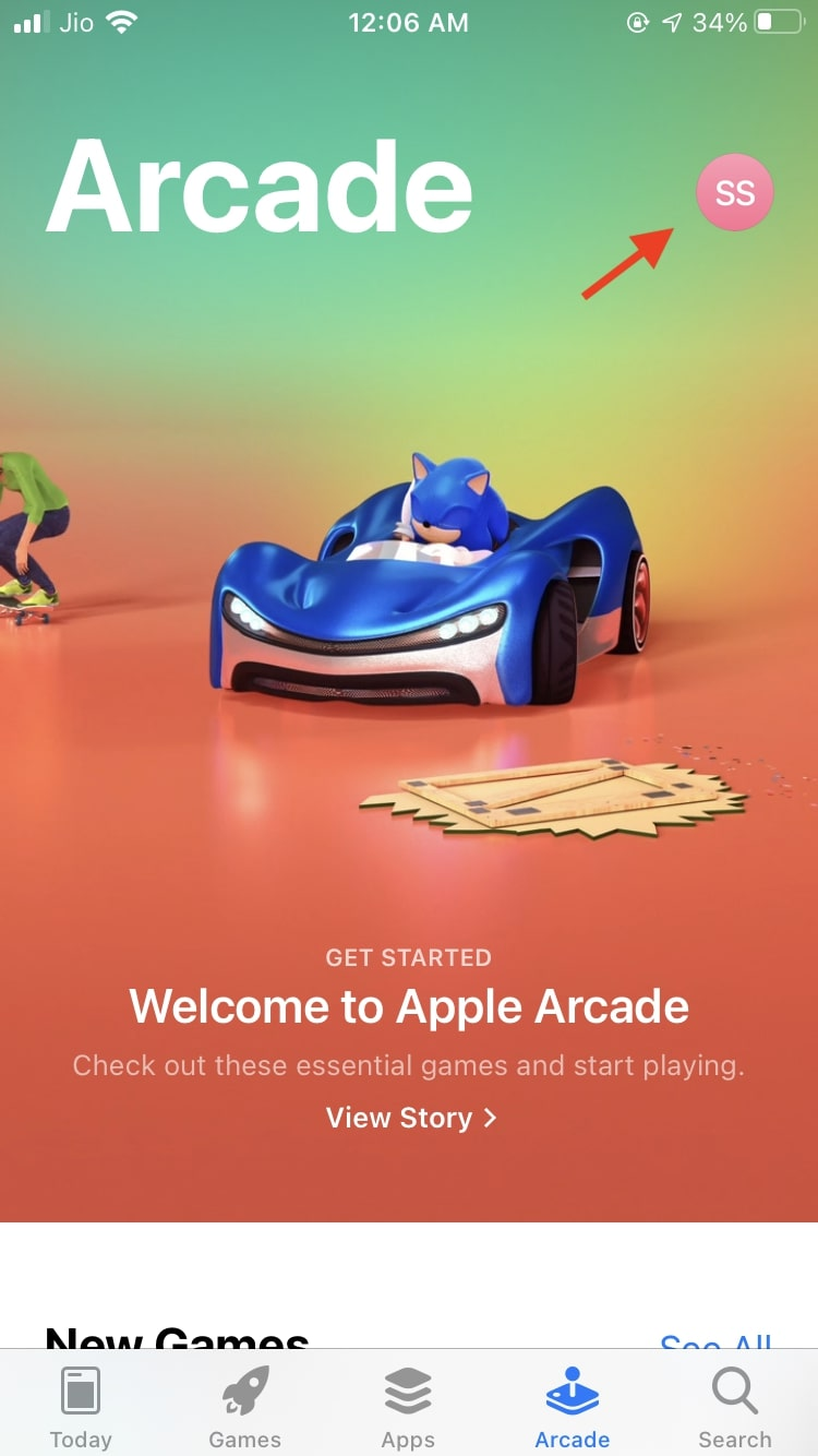 Apple Arcade App Store