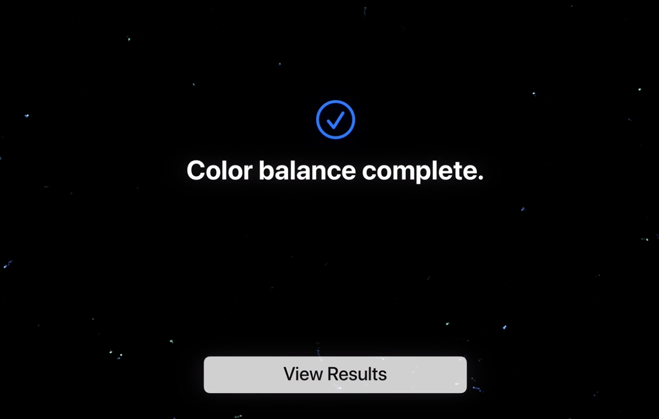 Color balance view results