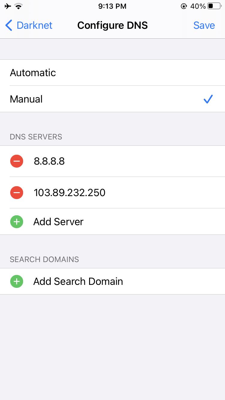 Configure DNS iPhone