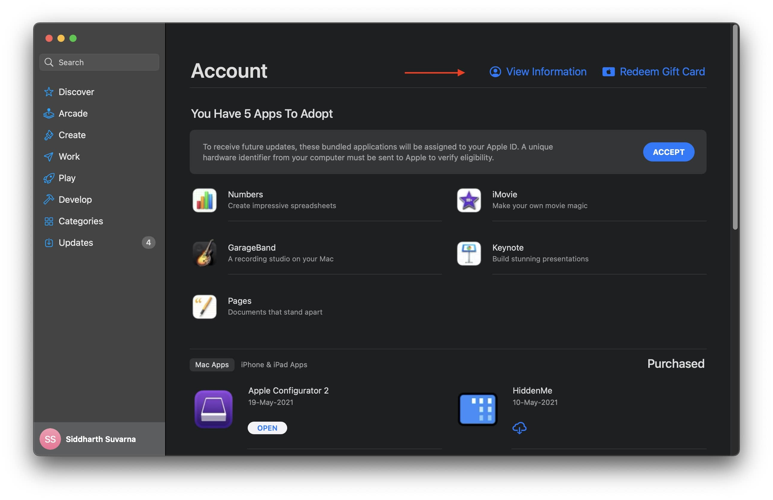 Mac App Store Account
