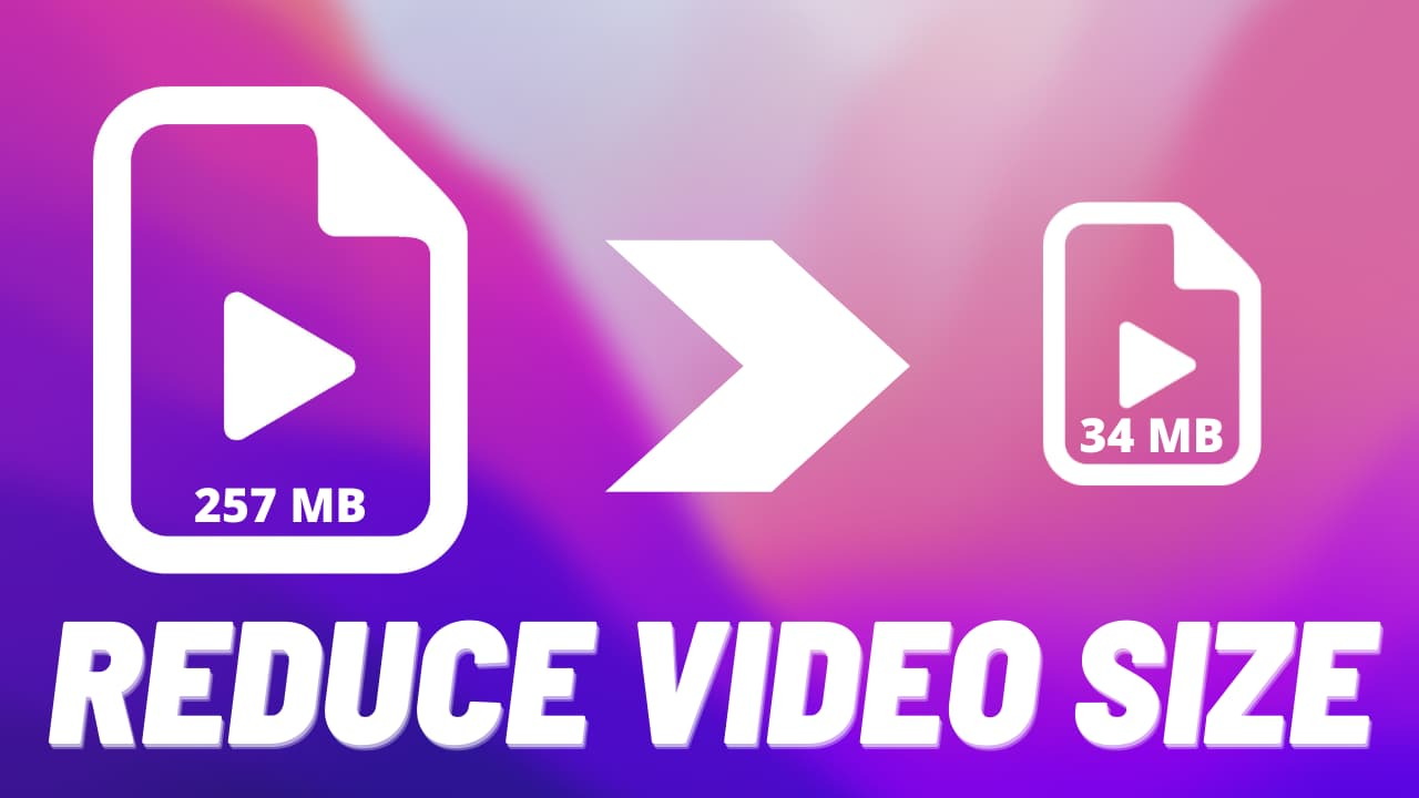 Reduce video file size