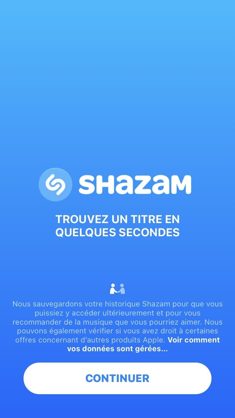Shazam app language change