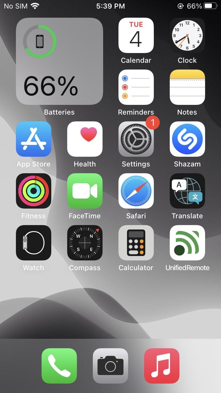 battery percentage iphone 12