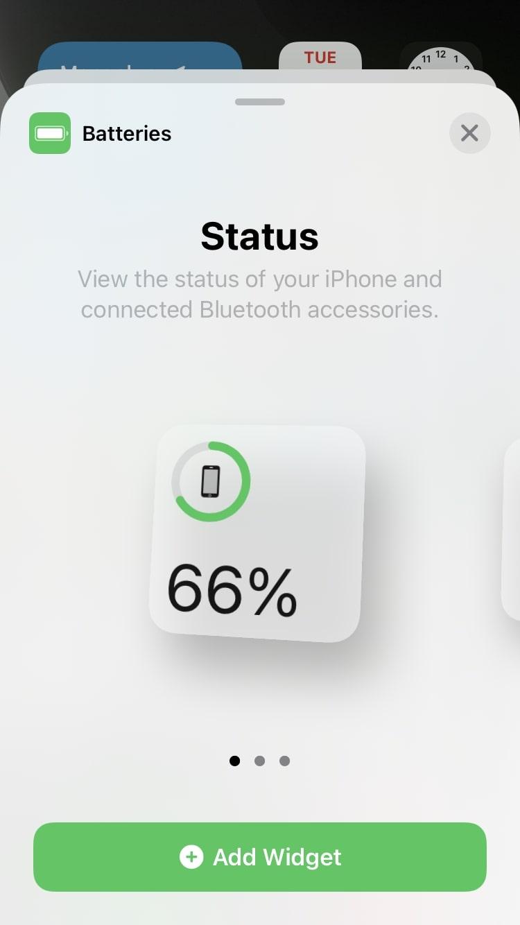 battery widget iphone