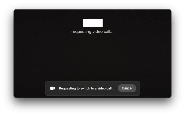 switch to video whatsapp macos