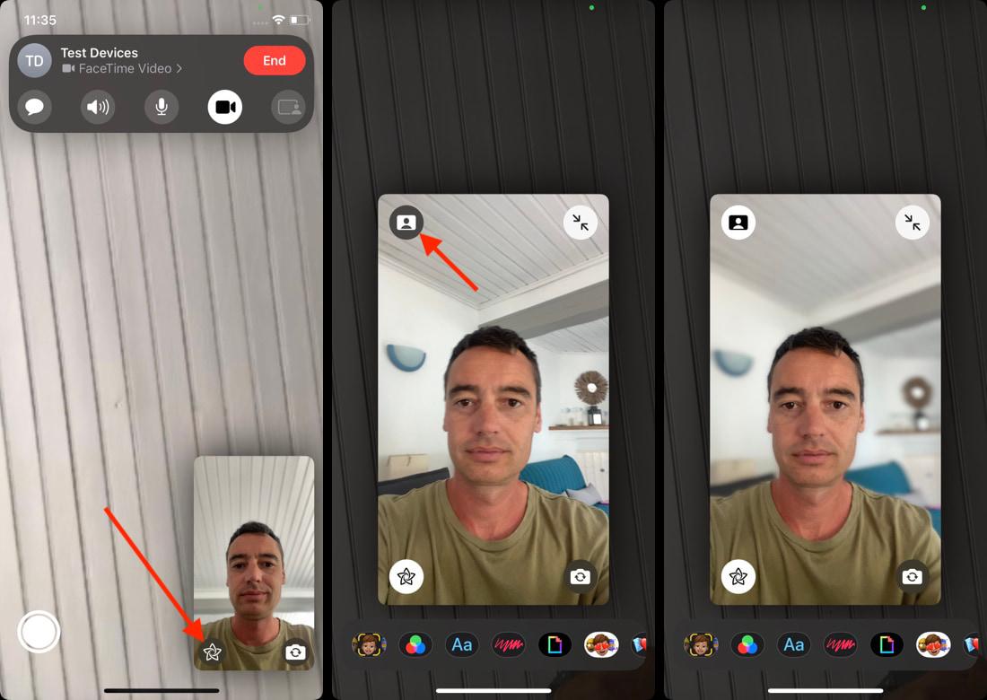 Enable portrait mode on FaceTime
