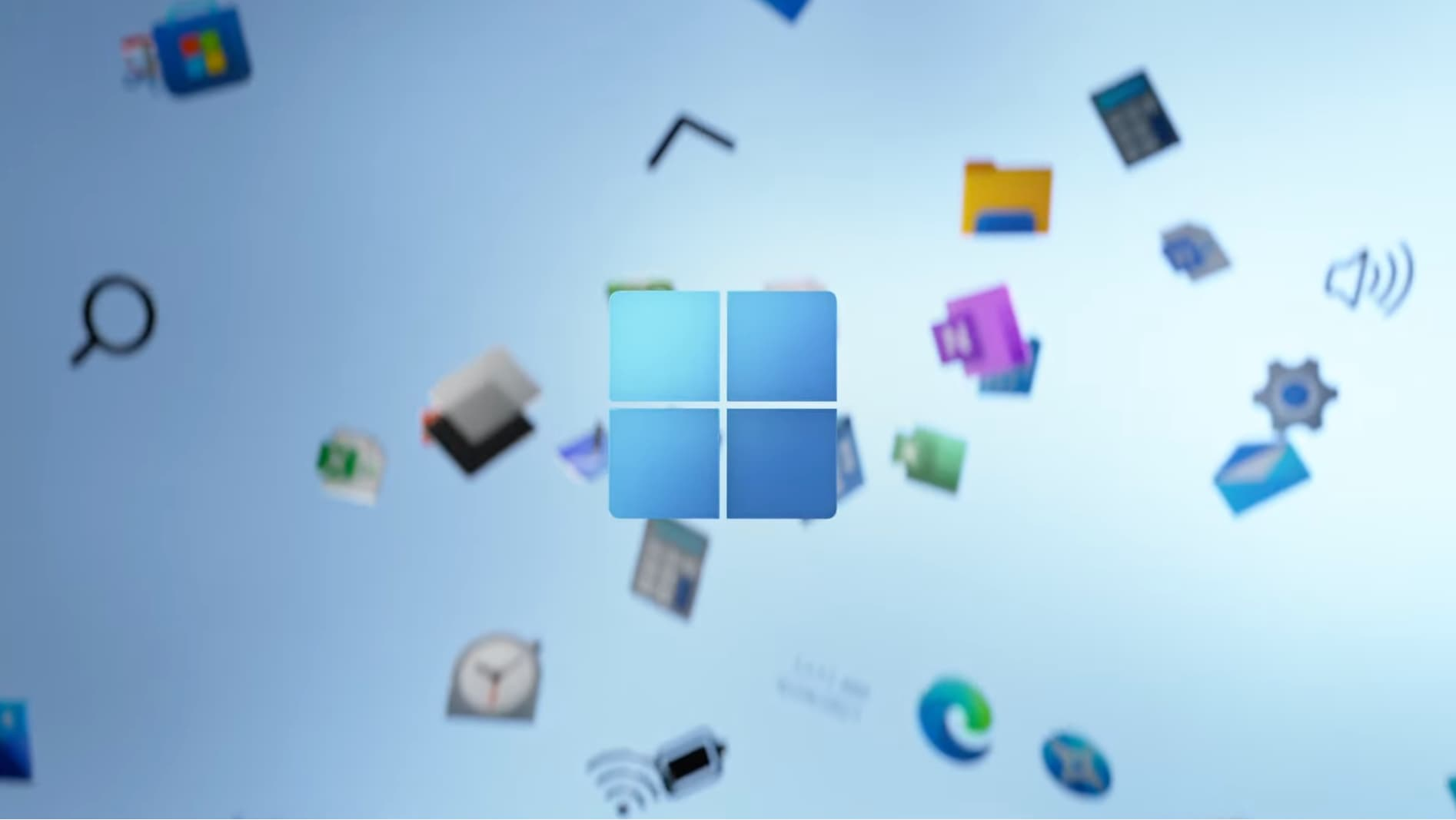 A still from Microsoft's promotional video announcing Windows 11