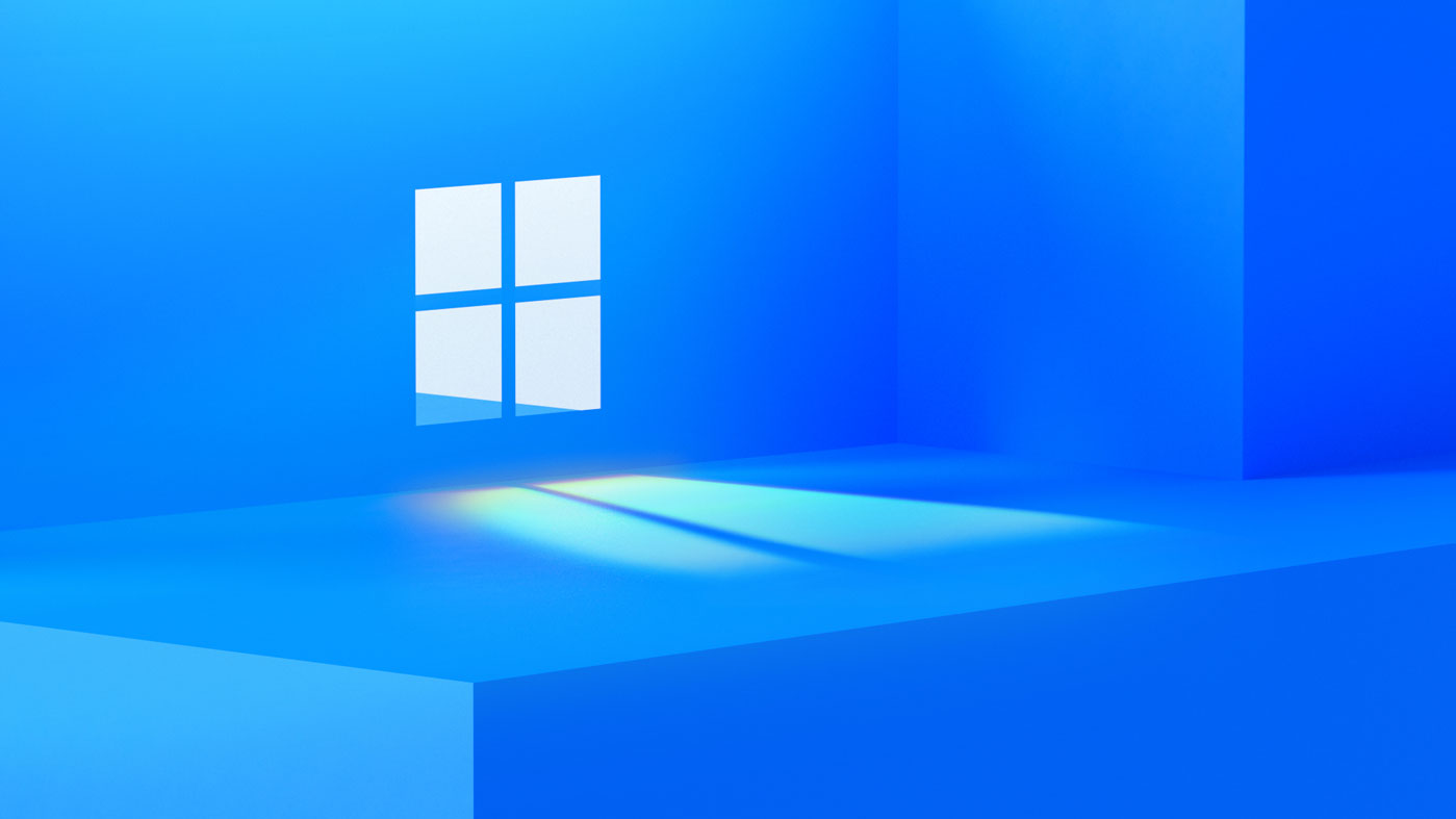 A Microsoft press invite showing a Windows logo set against a blue background