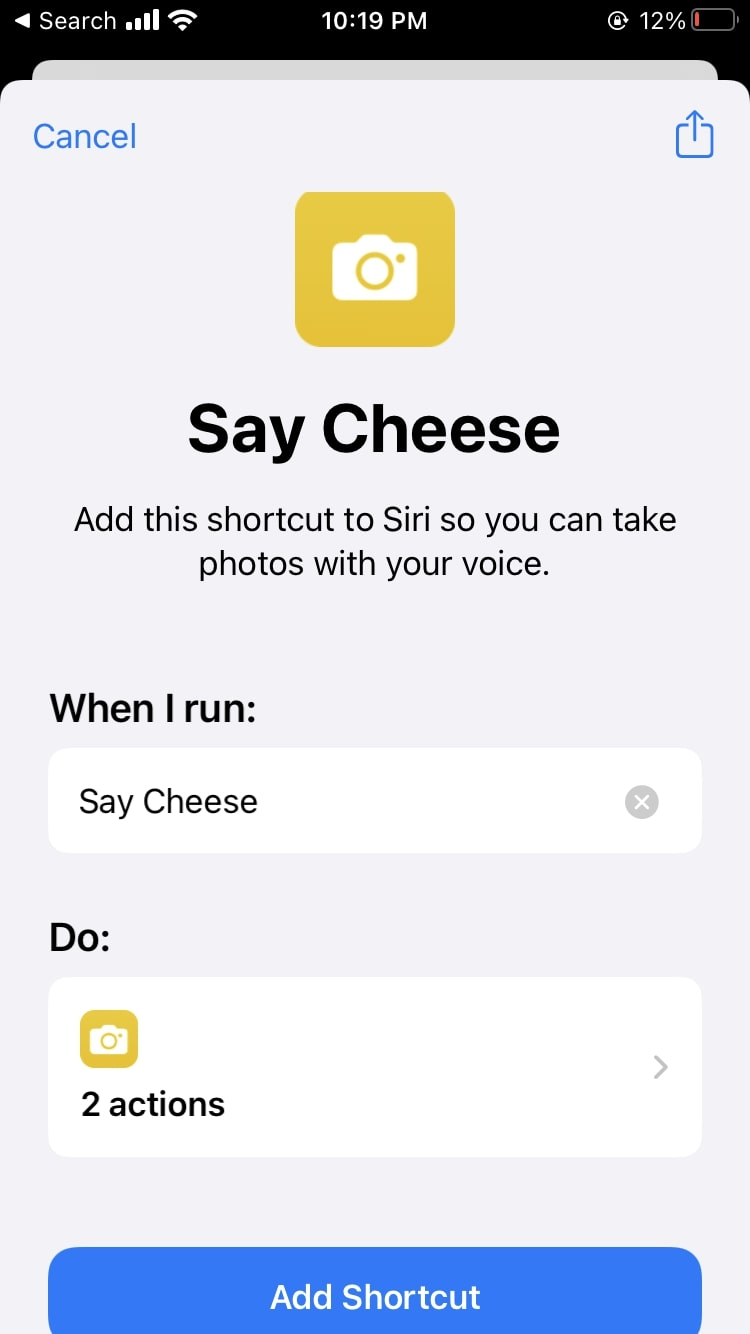 Shortcuts Say Cheese