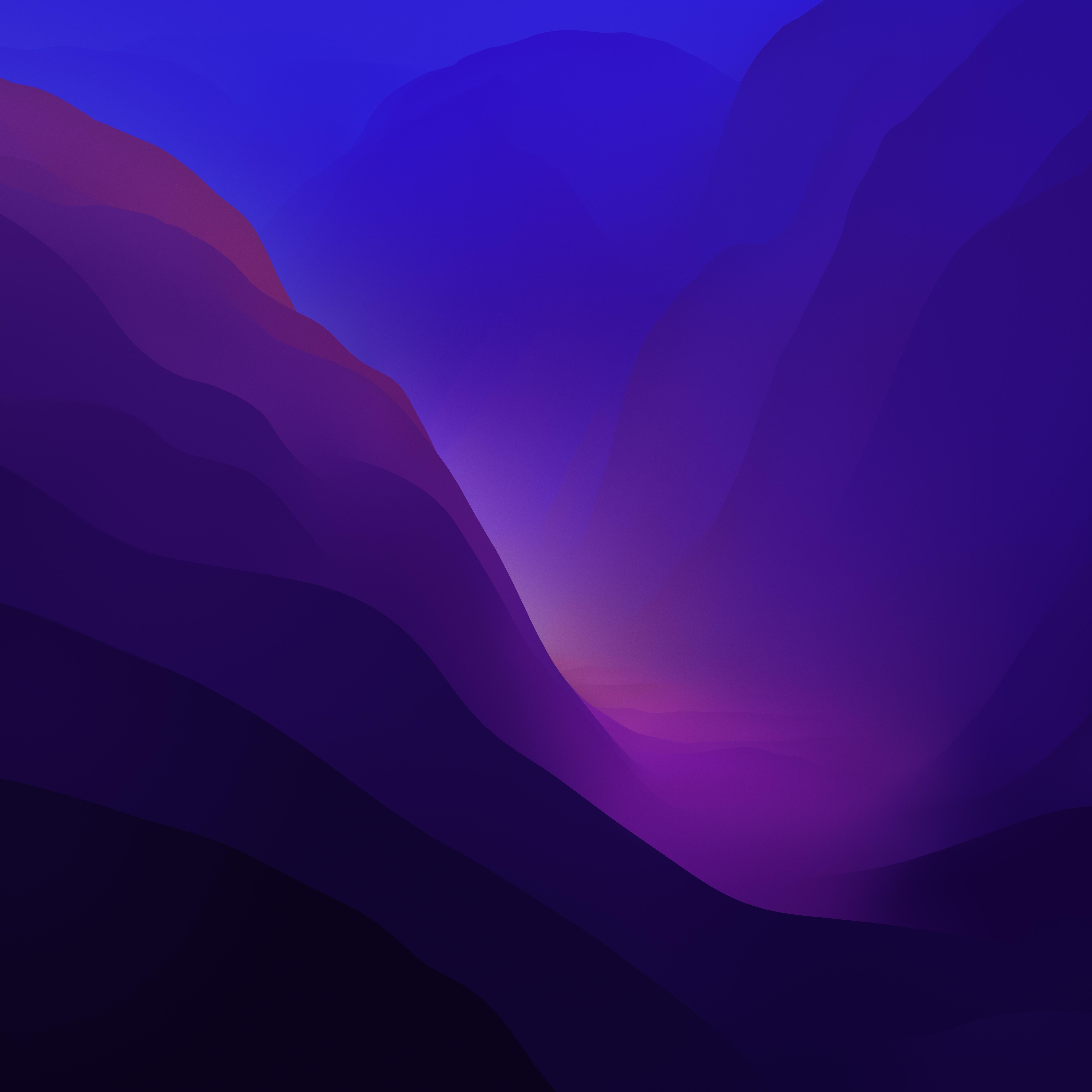 macOS Monterey wallpaper Dark