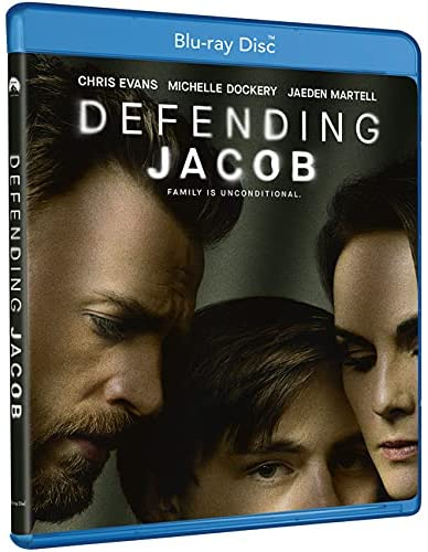"""A photo showing Blu-ray packaging for Apple TV+ thriller series """"Defending Jacob"""""""